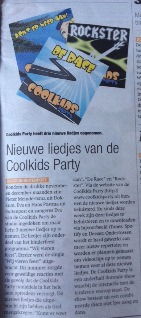 dockumer courant - coolkids party